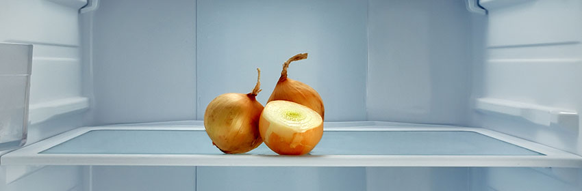 onions in the fridge