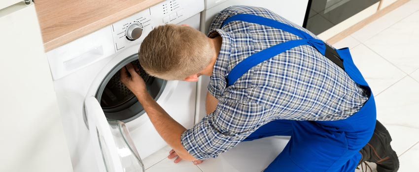 Repairing a broken washing machine