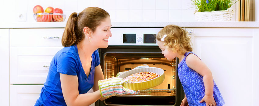 Cooking results with the fan-assisted oven
