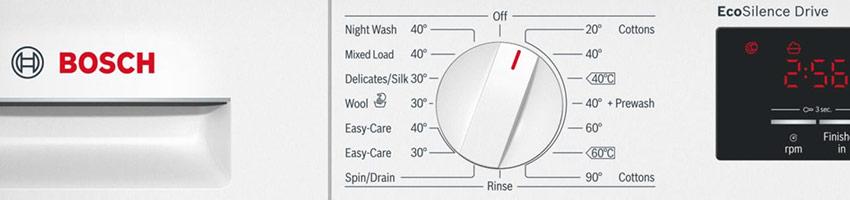 Bosch washing machine display