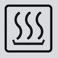warming oven symbol