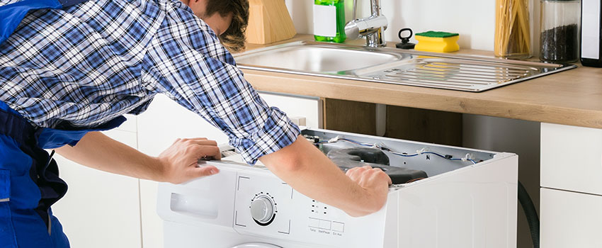 typical washing machine installation