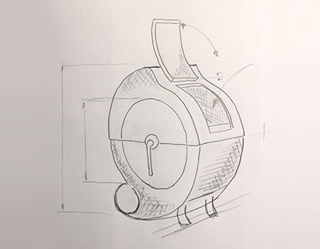 clothes dryer drawing