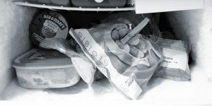 frost buildup in freezer