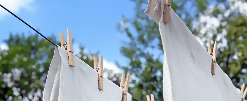 a clothesline outside