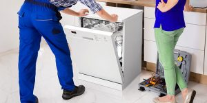 Moving an integrated dishwasher