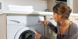 washing machine in the kitchen