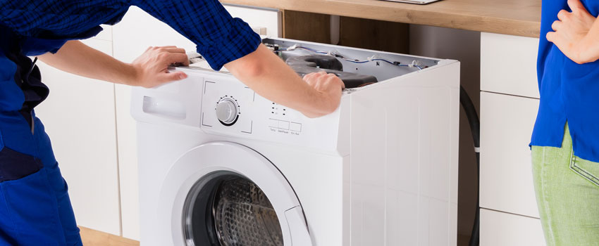 Installation of integrated washing machine