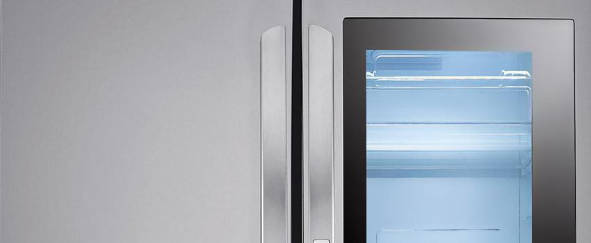 LG glass door fridge