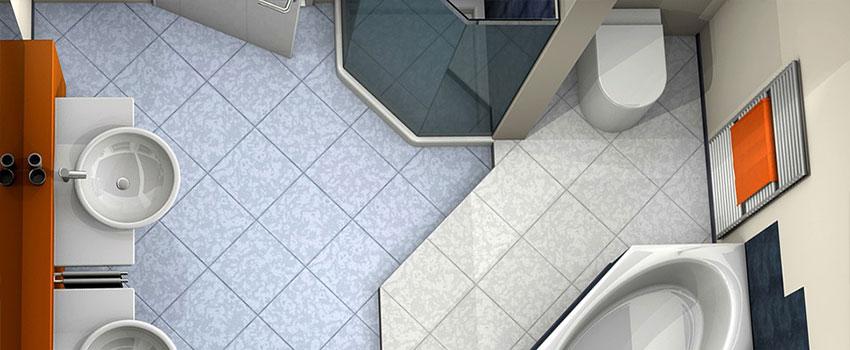 hide a washing machine in a bathroom